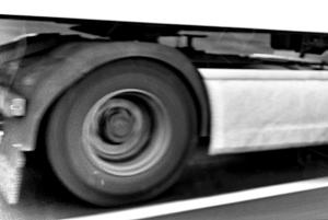 Lorry Wheel At 50mph