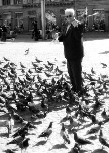 The Pigeon Man From Amsterdam bw