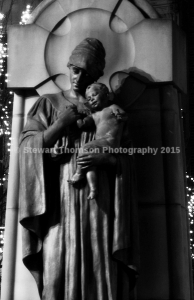 War Memorial At Christmas